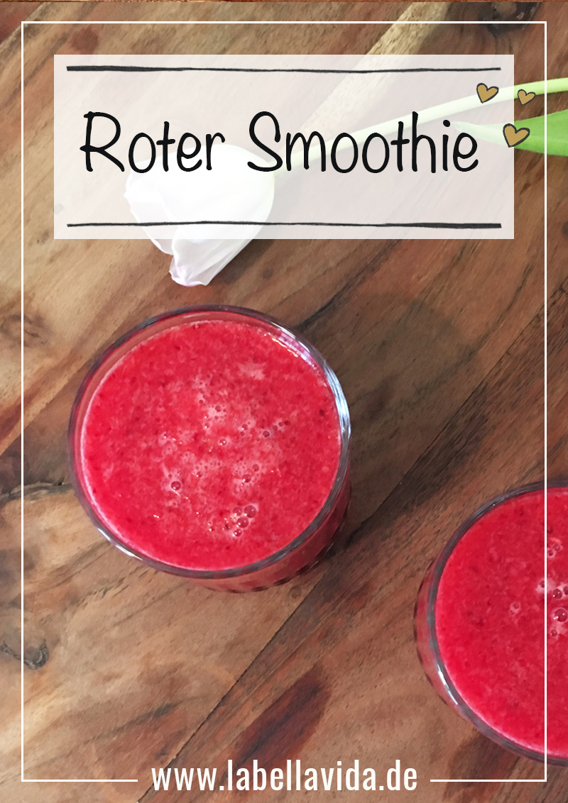 Roter Smoothie